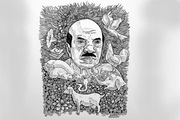 basheer- art by- subesh padmanabhan